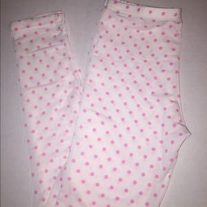 Polka Woman's Stretch Pink Leggins